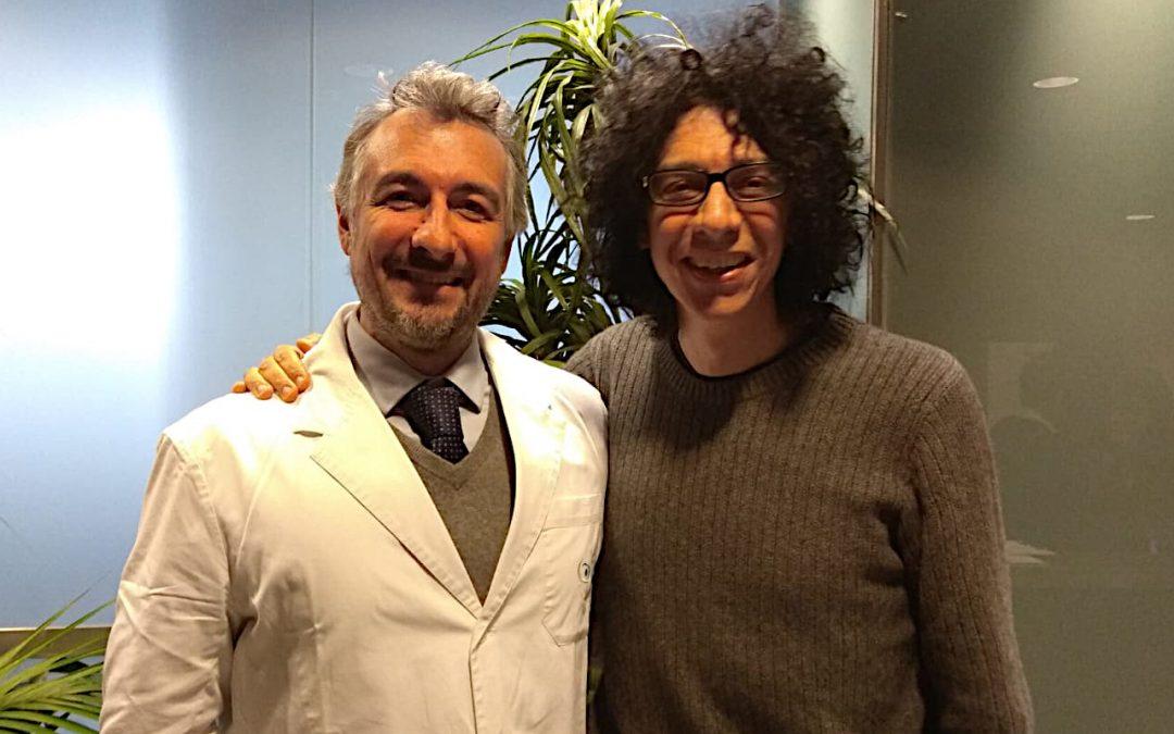 Foto di Giovanni Allevi con Luca Vigo da CARONES Vision
