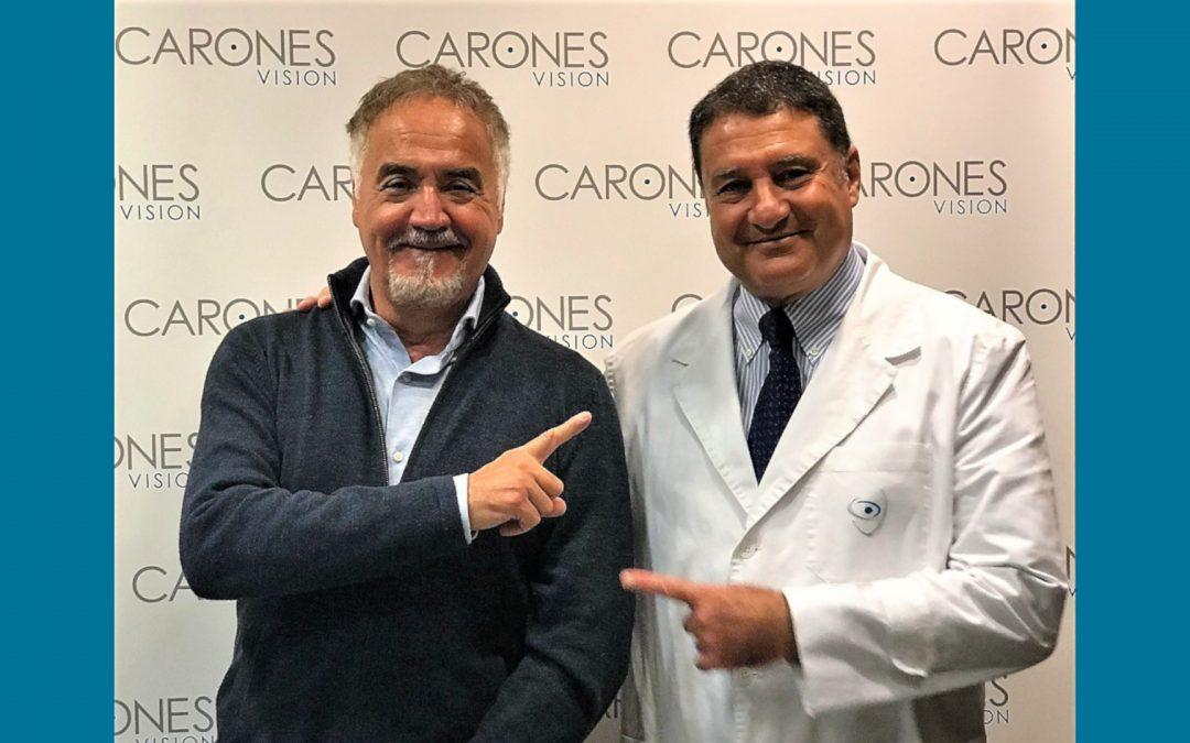 Foto di Davide De Zan presso CARONES Vision con Francesco Carones