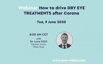 Il dott. Vigo protagonista del webinar di esw-vision sulla gestione dei trattamenti per le disfunzioni lacrimali