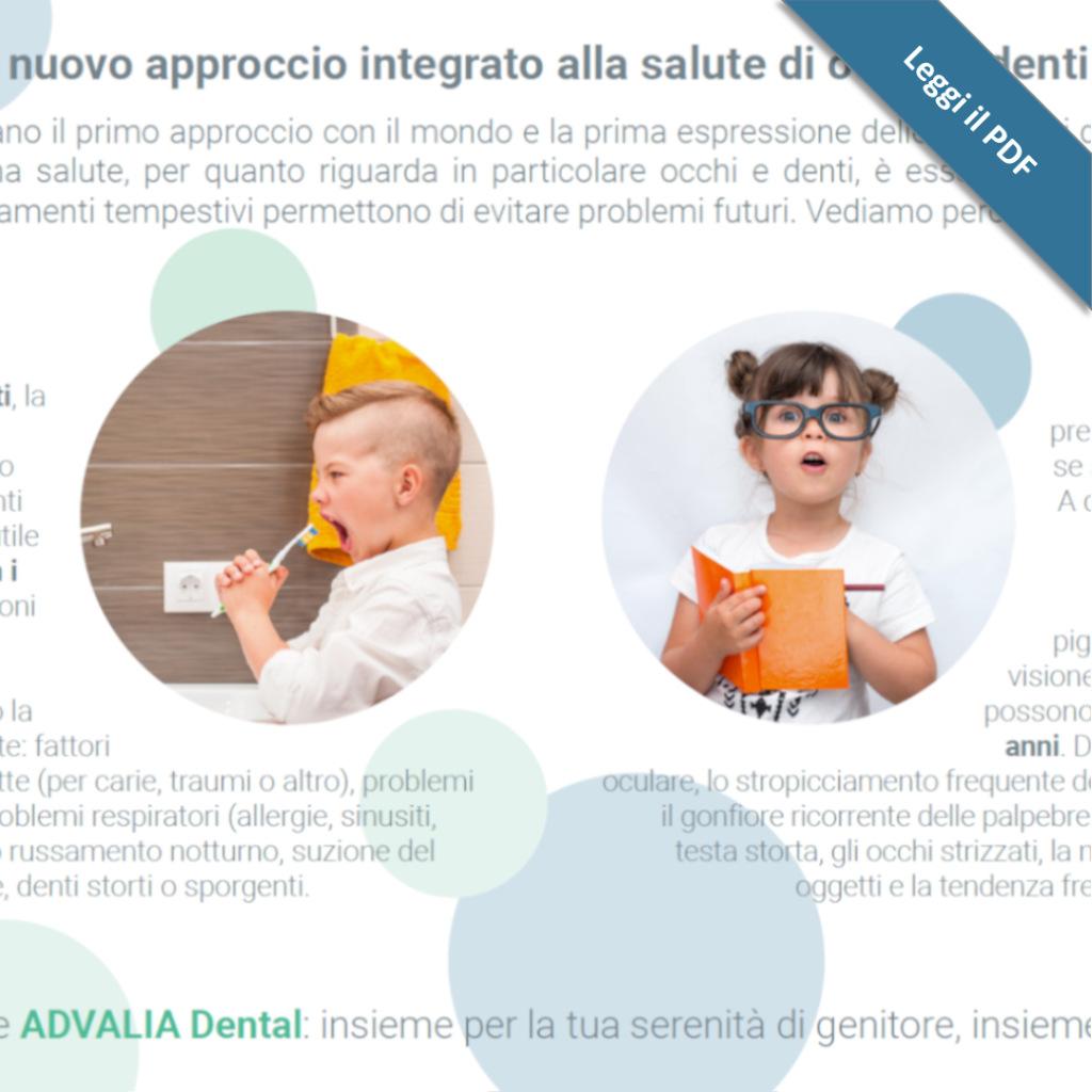 Visita oculistica e dentistica pediatrica